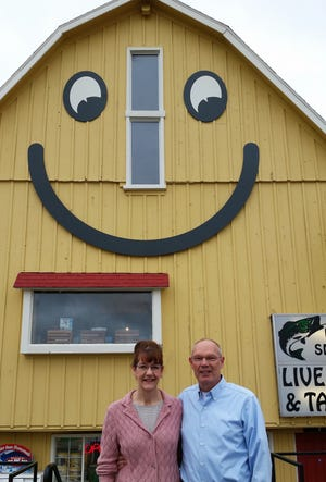 Maria and Glen Lujther are owners of the Smiley Barn in Delafield.