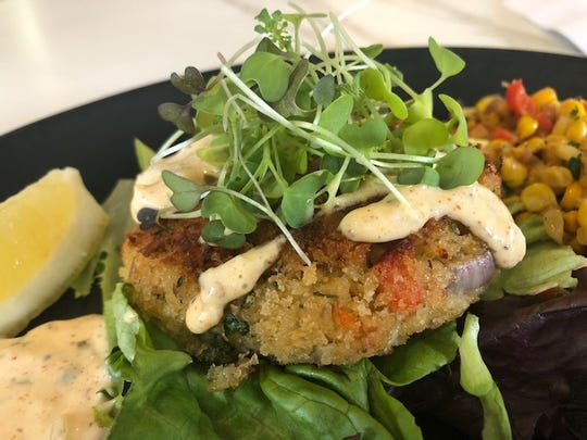 One of the most popular appetizers at Belfre Kitchen is the jumbo crab cake.