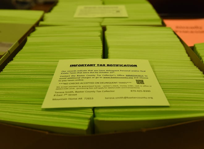 The Baxter County Tax Collector's Office will soon mail out more than 5,300 notices to property owners that have unpaid taxes.