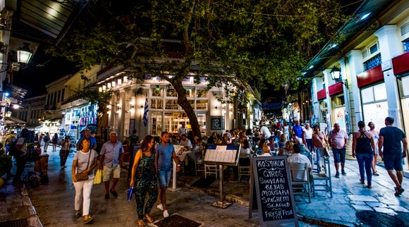The Plaka area of Athens has been inhabited since ancient times.