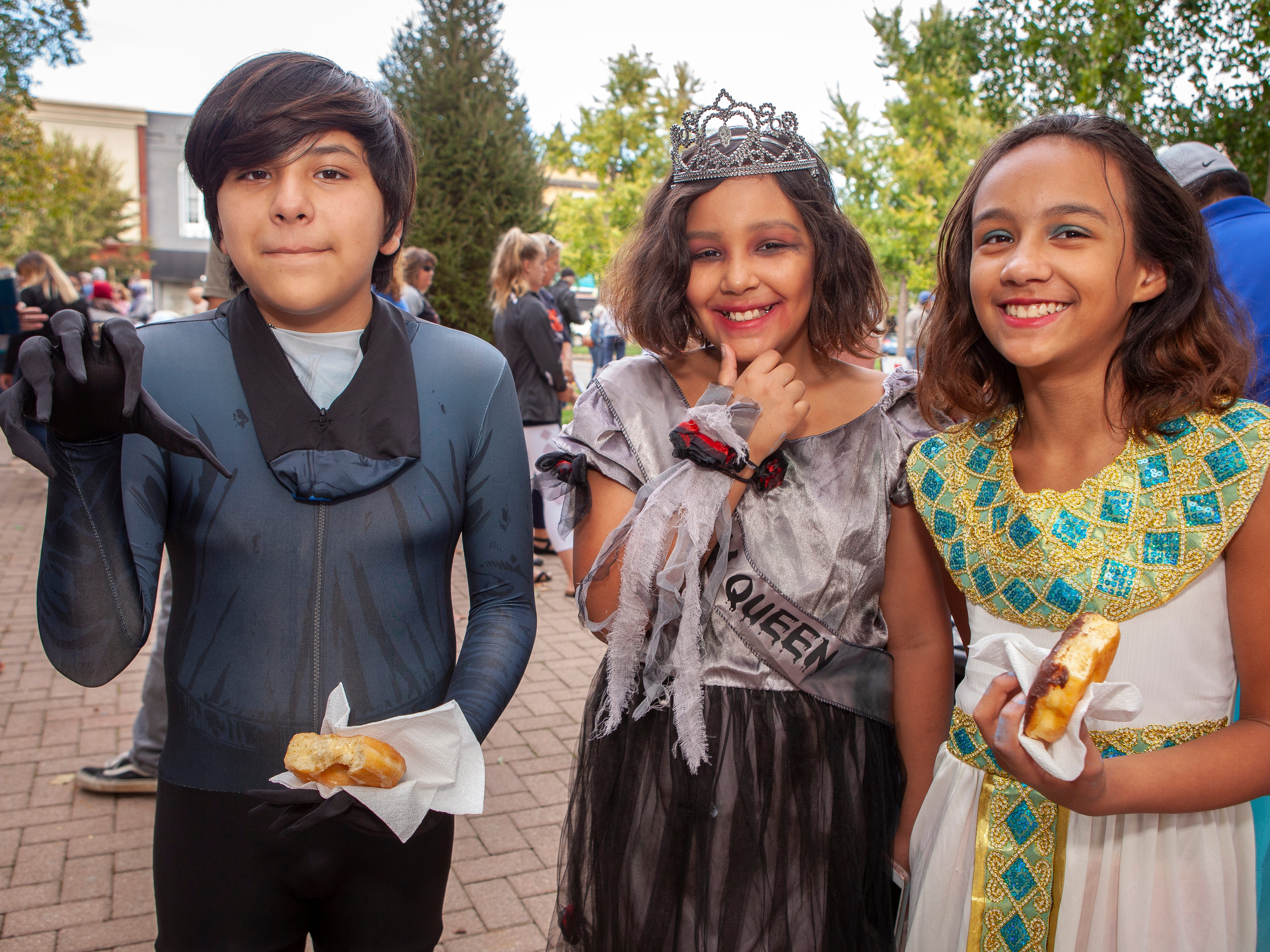 Diego Rojas, Kiara Brown, Ameera Brown were on hand for the Murfreesboro Loves celebration on Sunday, Oct. 28, 2018.