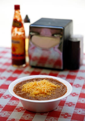 Talk about a cheap lunch — a bowl of chili at Varallo's Chile Parlor & Restaurant is $4.55.