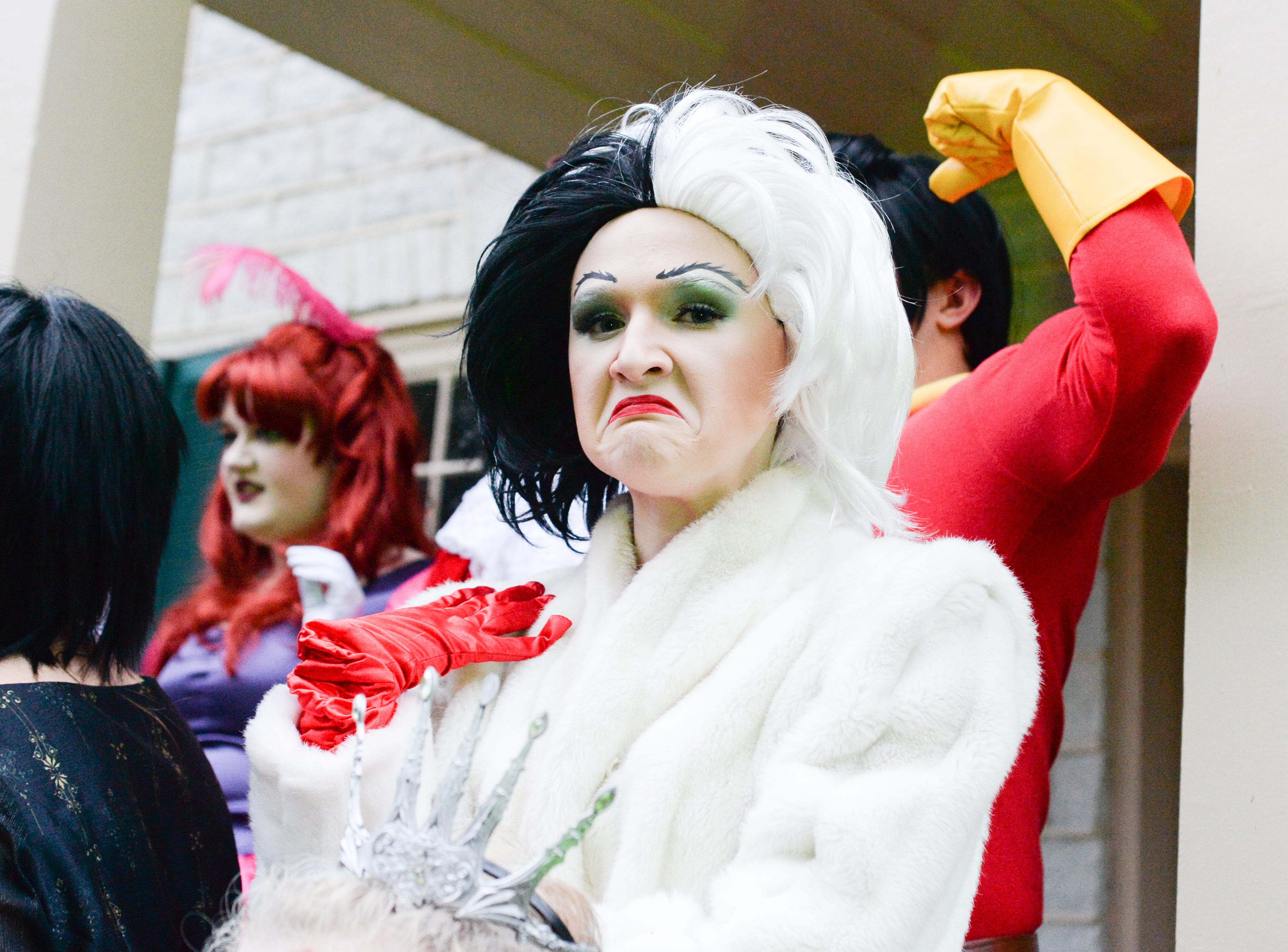 Participants stay fully in character during the Castle of Villains trick or treating event at Historic Rock Castle in Hendersonville on Friday, Oct. 26.