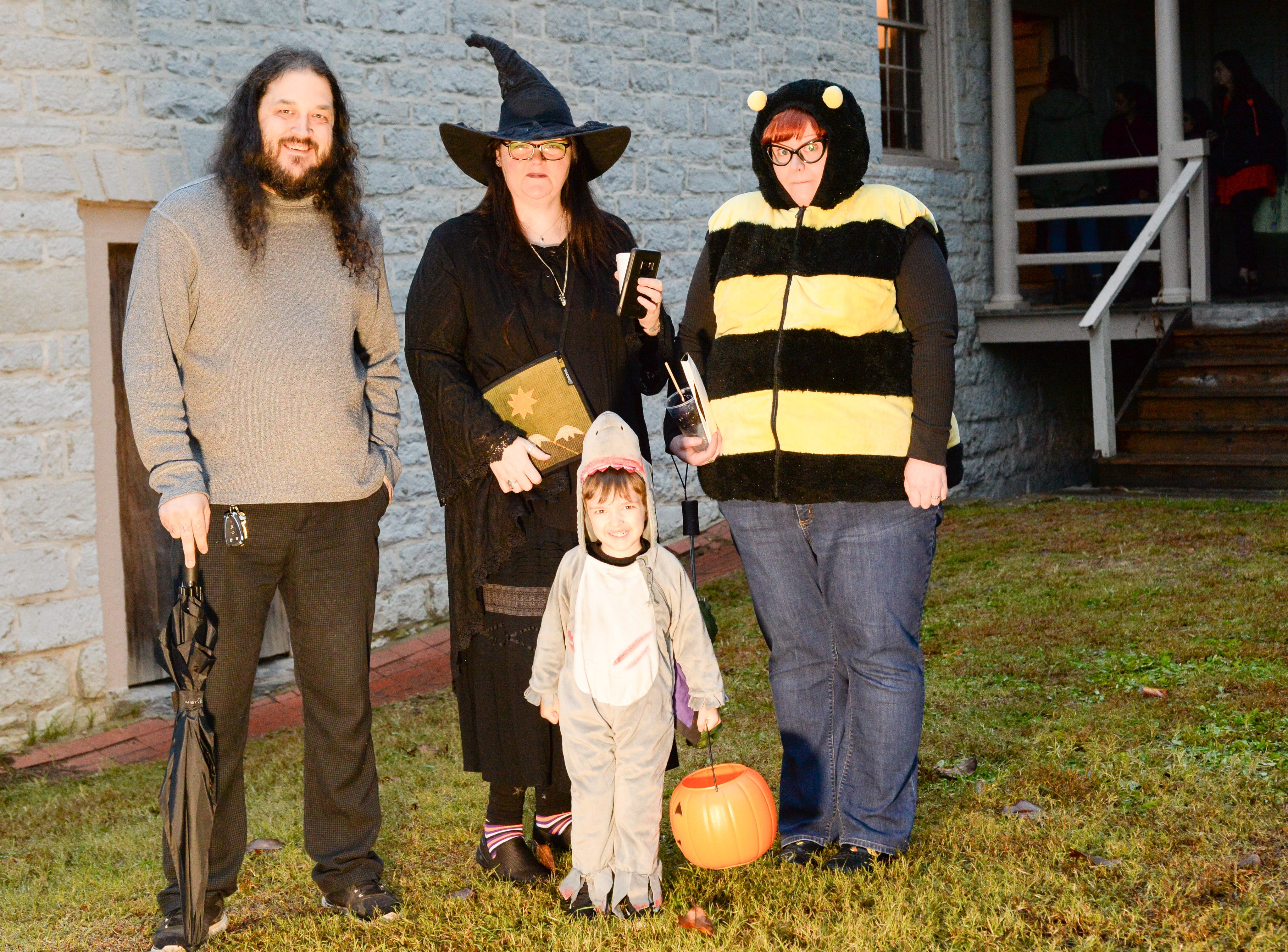 Attendees of all ages enjoy the Castle of Villains trick or treating event at Historic Rock Castle in Hendersonville on Friday, Oct. 26.