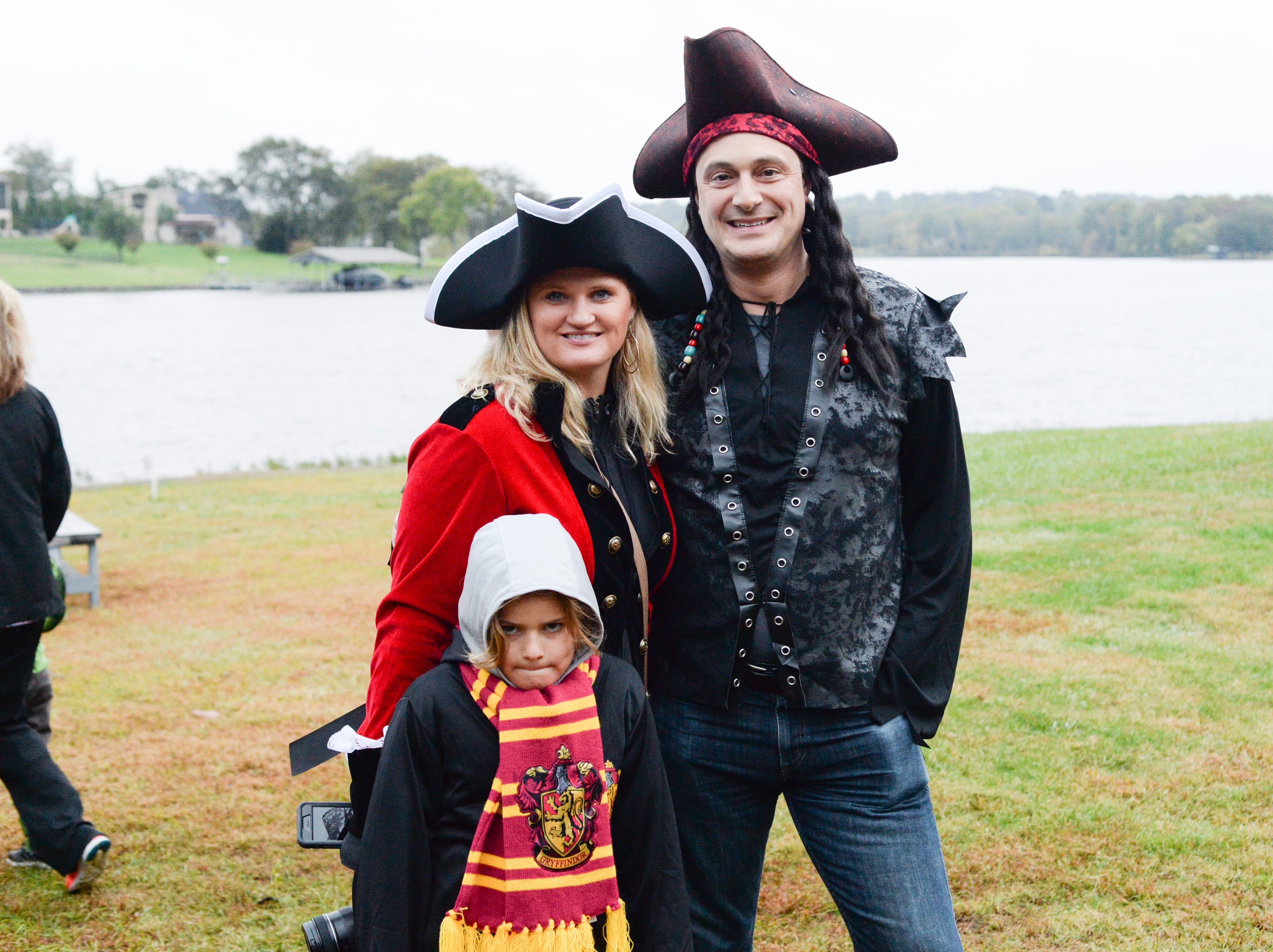 The Kothe family enjoys the Castle of Villains trick or treating event at Historic Rock Castle in Hendersonville on Friday, Oct. 26.