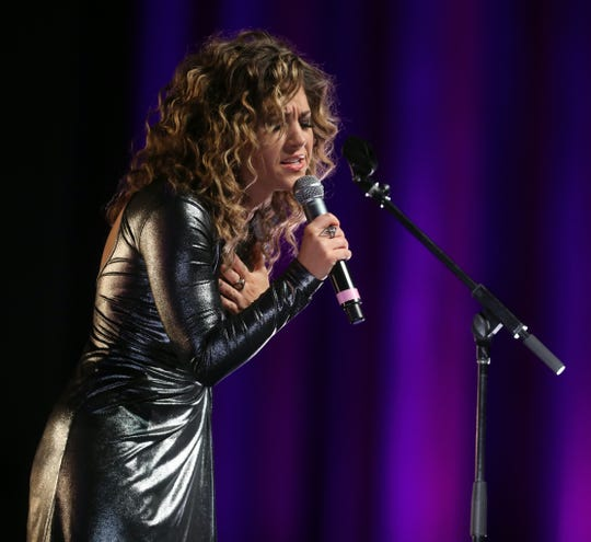 Jamie Floyd performs during the 48th Anniversary Nashville Songwriters Hall of Fame Dinner and Induction Ceremony at the Music City Center Sunday, October 28, 2018.