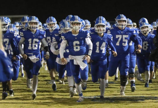 White House Players Take The Field Before Their Game Against Greenbrier Friday Oct 26 2018 In White House Tenn