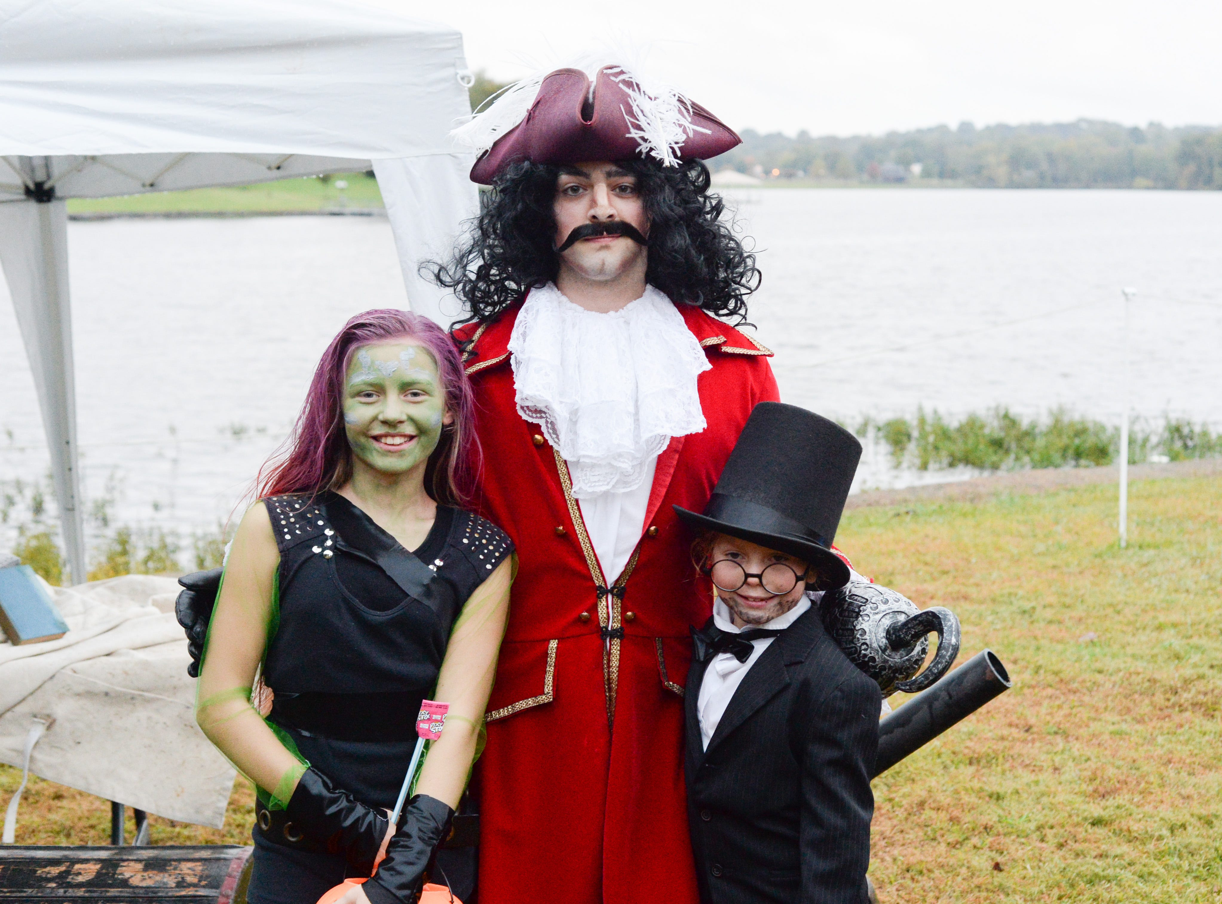 Attendees get to interact with the characters during the Castle of Villains trick or treating event at Historic Rock Castle in Hendersonville on Friday, Oct. 26.