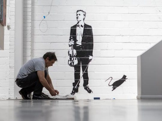 2018 MBA Art Show featured artist, Blek le Rat and his work.
