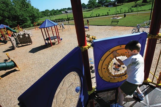 Harvey Park in Spring Hill has picnic pavilions, a playground and a walking trail.