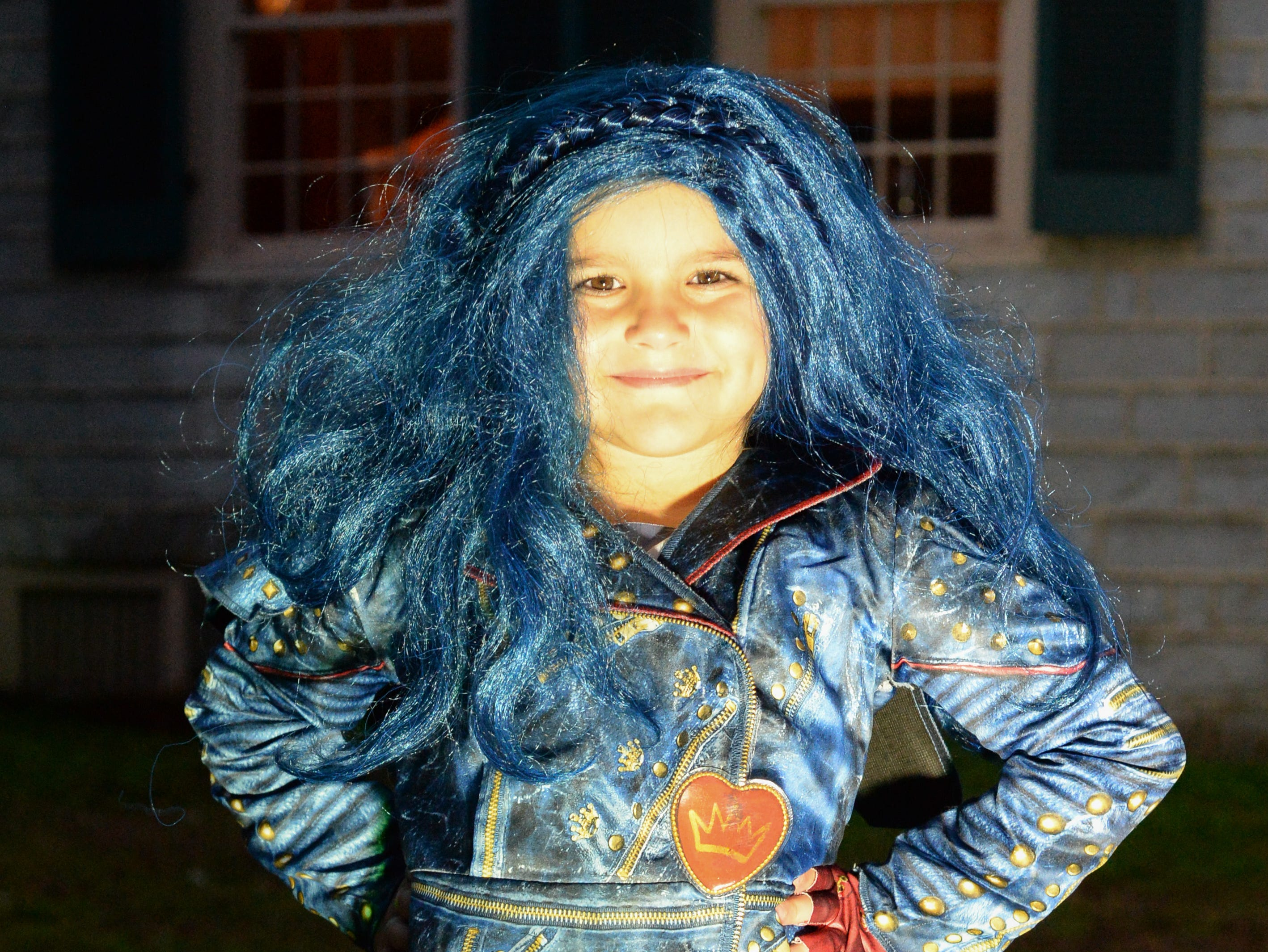 Alexandria Qirilla came prepared for the Castle of Villains trick or treating event at Historic Rock Castle in Hendersonville on Friday, Oct. 26.