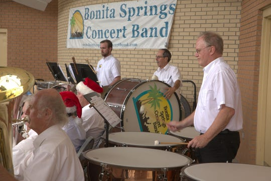 The Bonita Springs Concert Band has 75-95 people perform. The group does free concerts in Riverside Park.
