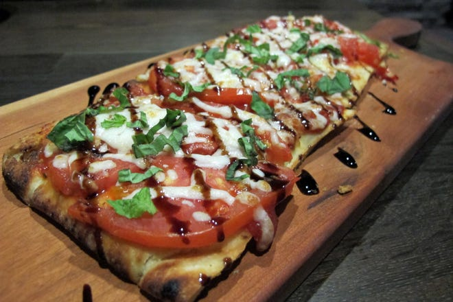A Margherita flatbread is on the menu at the new Bone Hook Brewing Co. in North Naples.