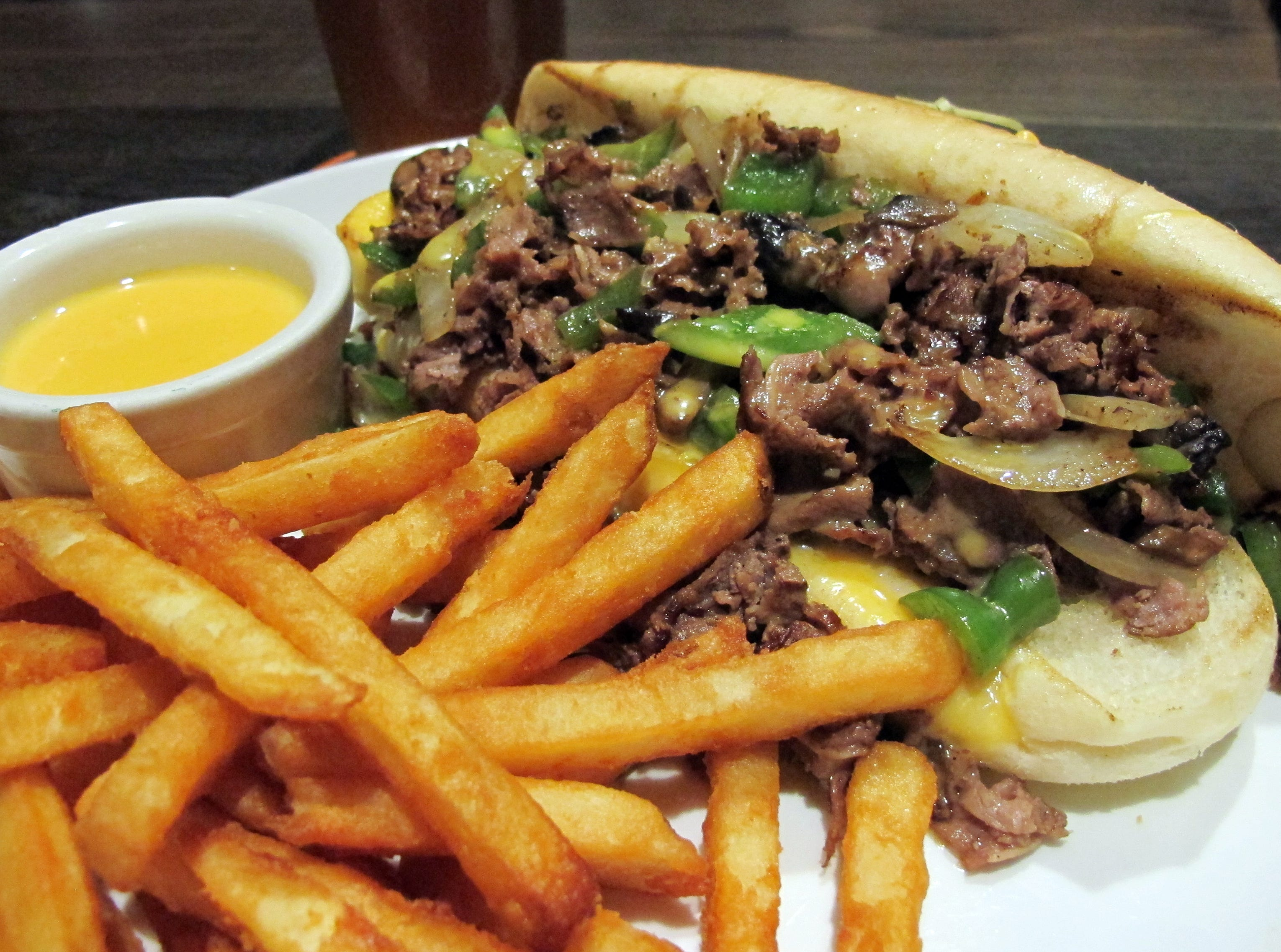 The Bone Hook Philly sandwich is one of the menu favorites at the new Bone Hook Brewing Co. in North Naples.