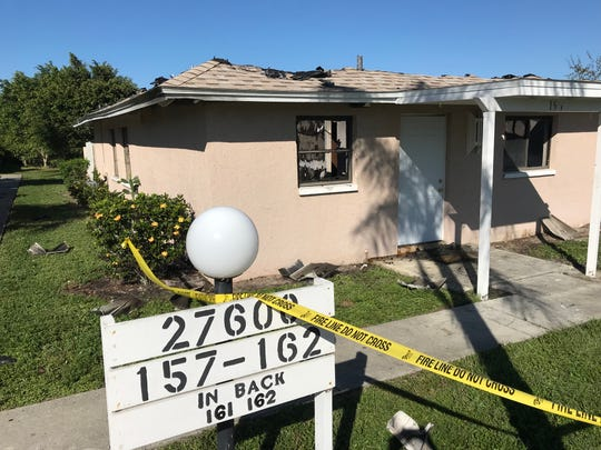 An early morning fire at the Polynesian Villas in Bonita Springs displaced the residents of units 159 and 160 on Oct. 29, 2018.