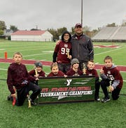 Newark Crimson won the fifth- and fourth-grade division of Licking County Family YMCA flag football.