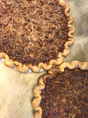 Pecan pies made from scratch at Erie Coffeeshop and Bakery