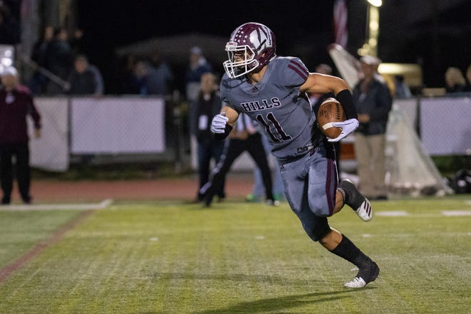 Wayne Hills' Jarron Hayek caught five passes for 119 yards and three touchdowns against Indian Hills.