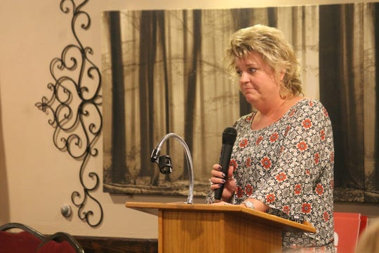 Republican state House District 51 candidate Rachel Black spoke during the Oct. 25 Republican Party of Otero County meeting.