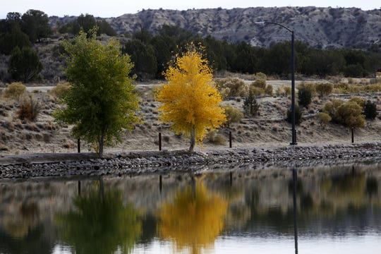 A reservoir is pictured Monday at Tiger Park in Aztec.
