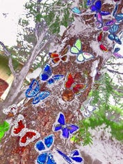 The butterfly tree at Jana Lynch's Painted Artist.