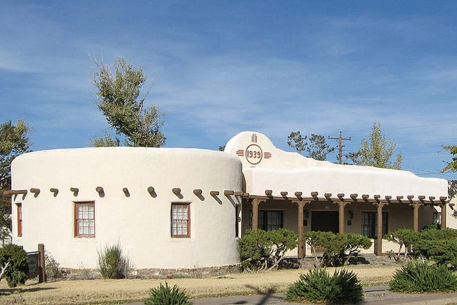 The Carrizozo Woman's Club building that was established and built in the 1930's under the direction of President Roosevelt.
