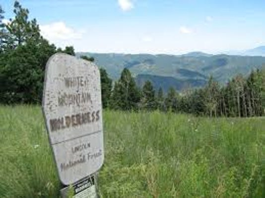 White Mountain Wilderness Sign