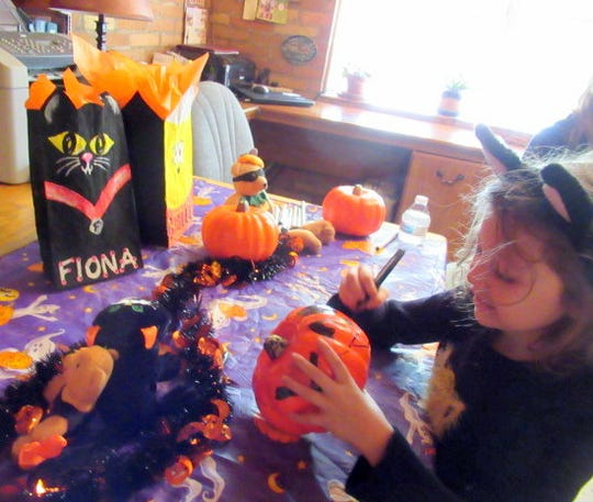 A young party-goes creates her special Halloween surprise.