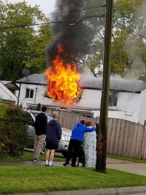A house on Ingram caught fire Sunday.