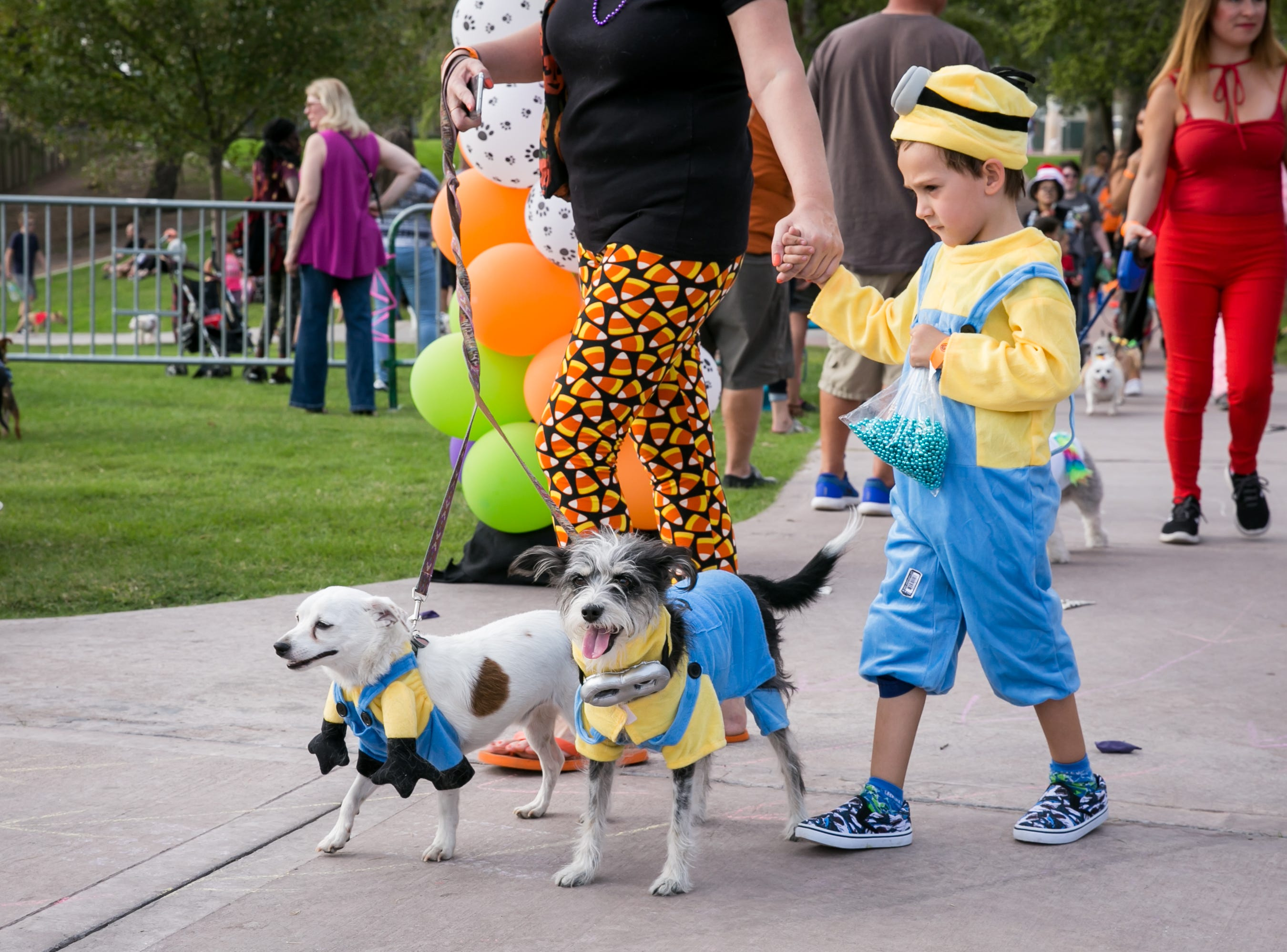 These minions got into some adorable shenanigans during Howl-o-Ween at Hance Park on Sunday, October 28, 2018.
