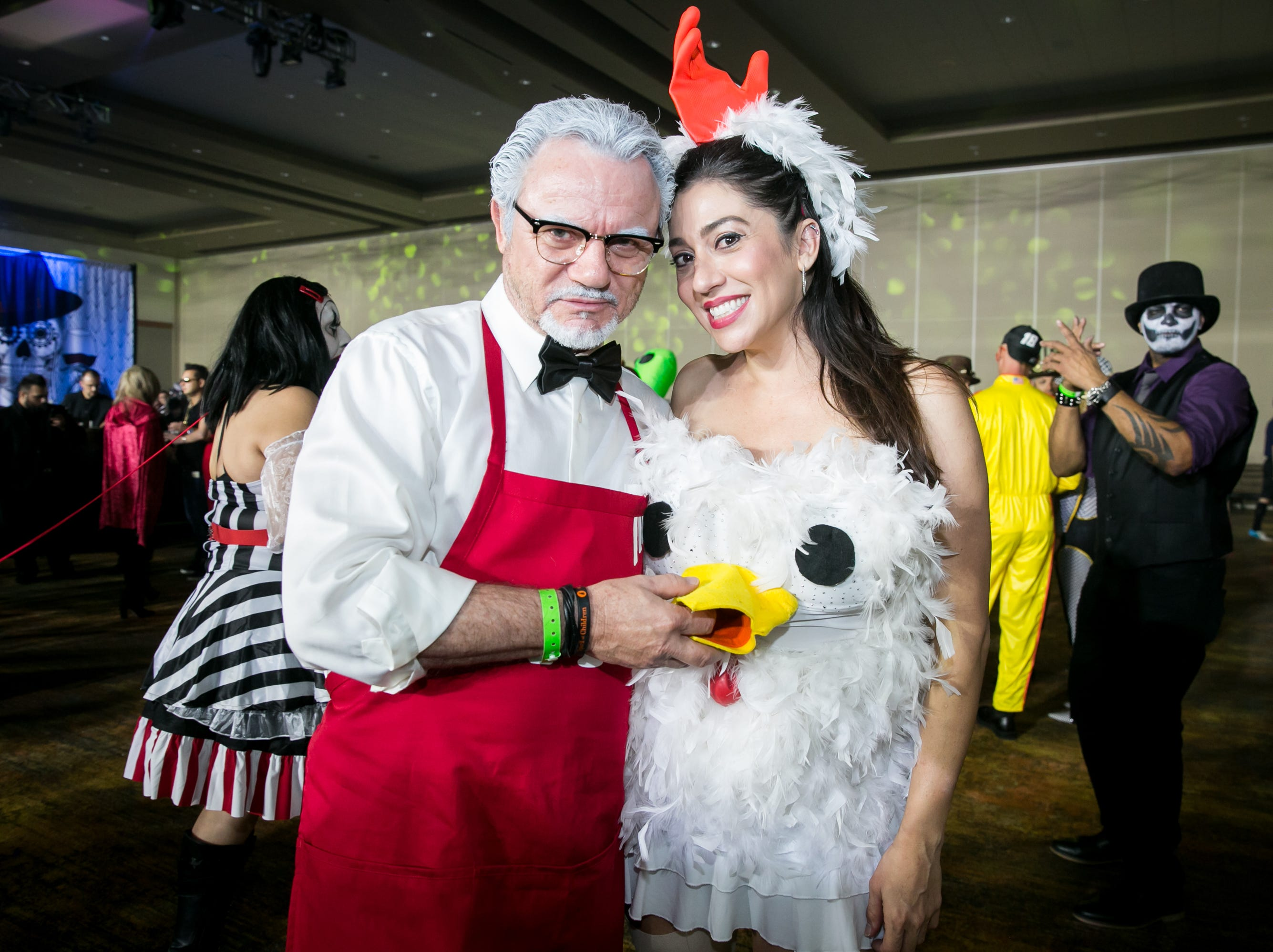 Some finger lickin' good costumes during Wicked Ball at Talking Stick Resort on Saturday, October 27, 2018.