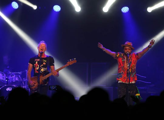 Sting and Shaggy perform during their 44/876 Tour at The Van Buren in Phoenix on Sunday, Oct. 28, 2018.