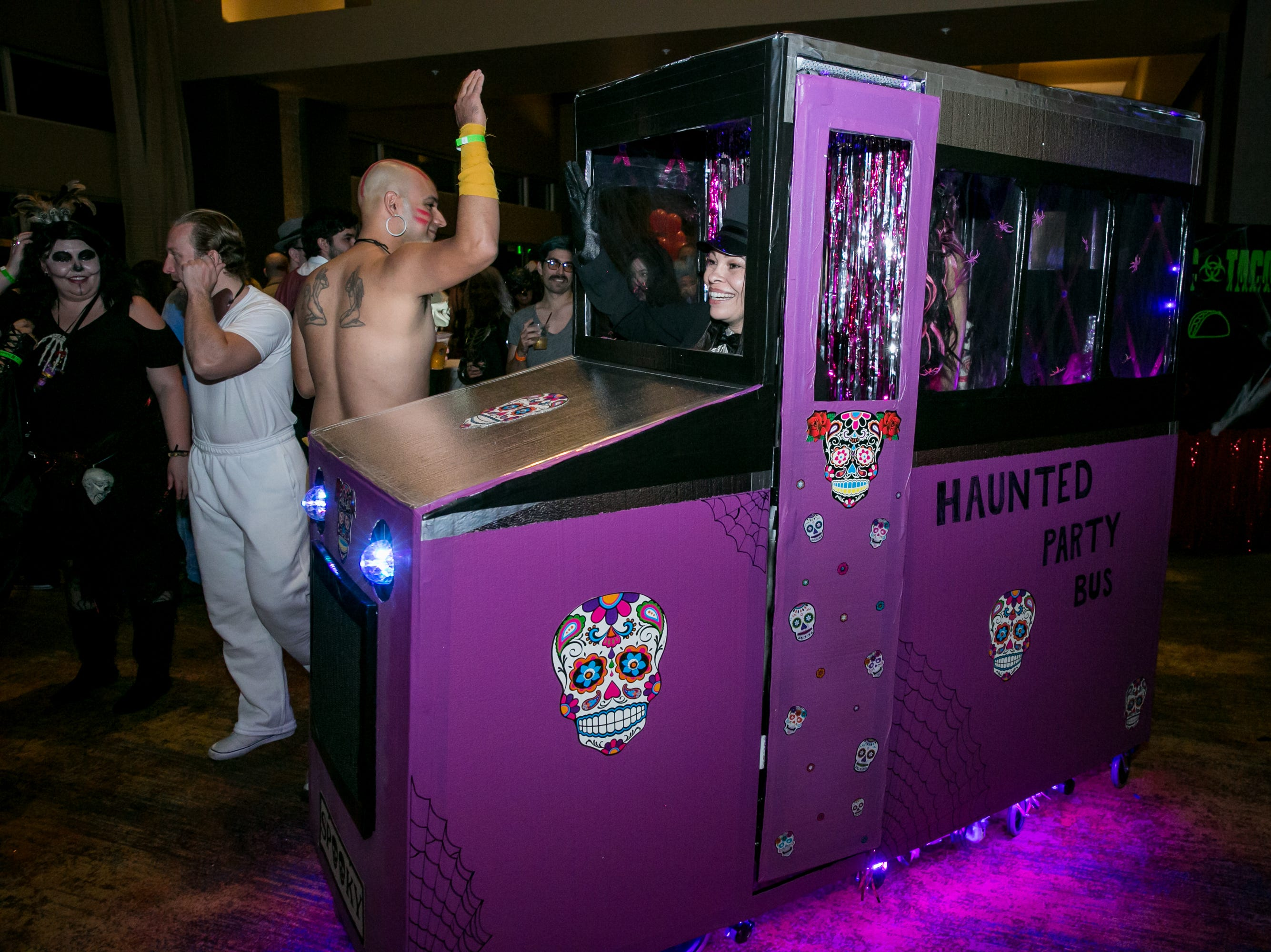 The party bus was a clever costume idea during Wicked Ball at Talking Stick Resort on Saturday, October 27, 2018.