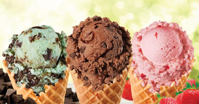 Brusters serves old-fashioned ice cream plus waffle cones, sundaes, candy-filled blasts and milkshakes.