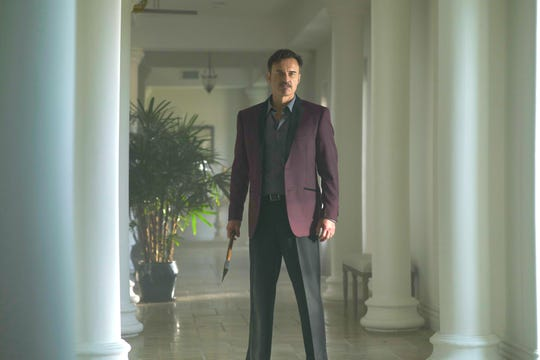 "Patrick (Julian McMahon) is the host of a very unusual dinner party in ""Monster Party."""