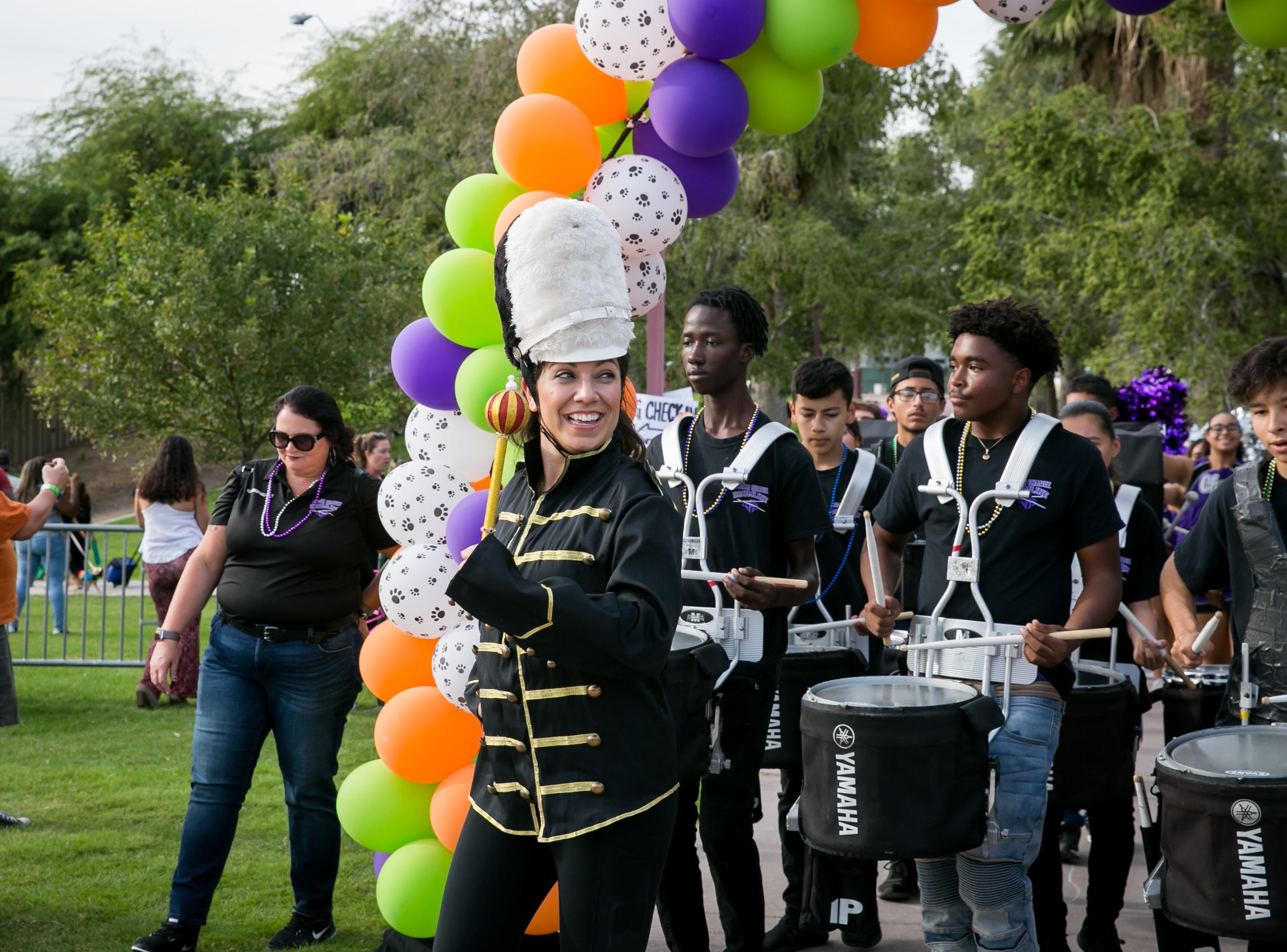 Jessica Hill lead the parade during Howl-o-Ween at Hance Park on Sunday, October 28, 2018.
