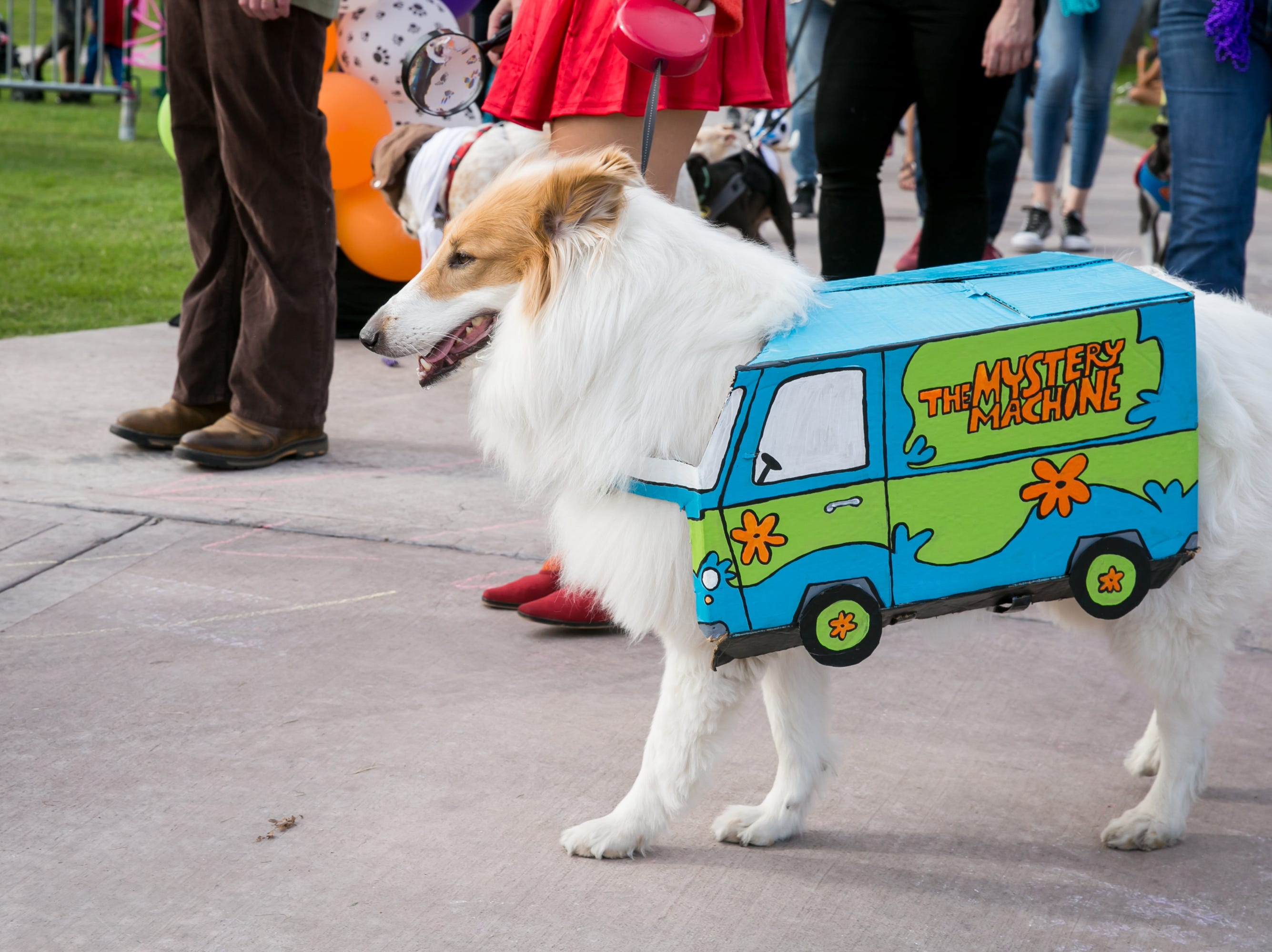 The Mystery Machine was the life force behind the Scooby Doo crew during Howl-o-Ween at Hance Park on Sunday, October 28, 2018.