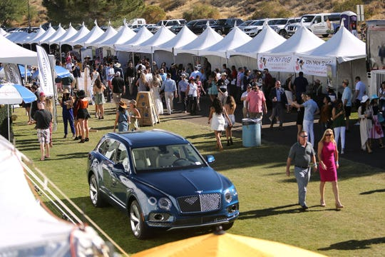 Last year's Bentley Scottsdale Polo Championships featured numerous sponsor tents.