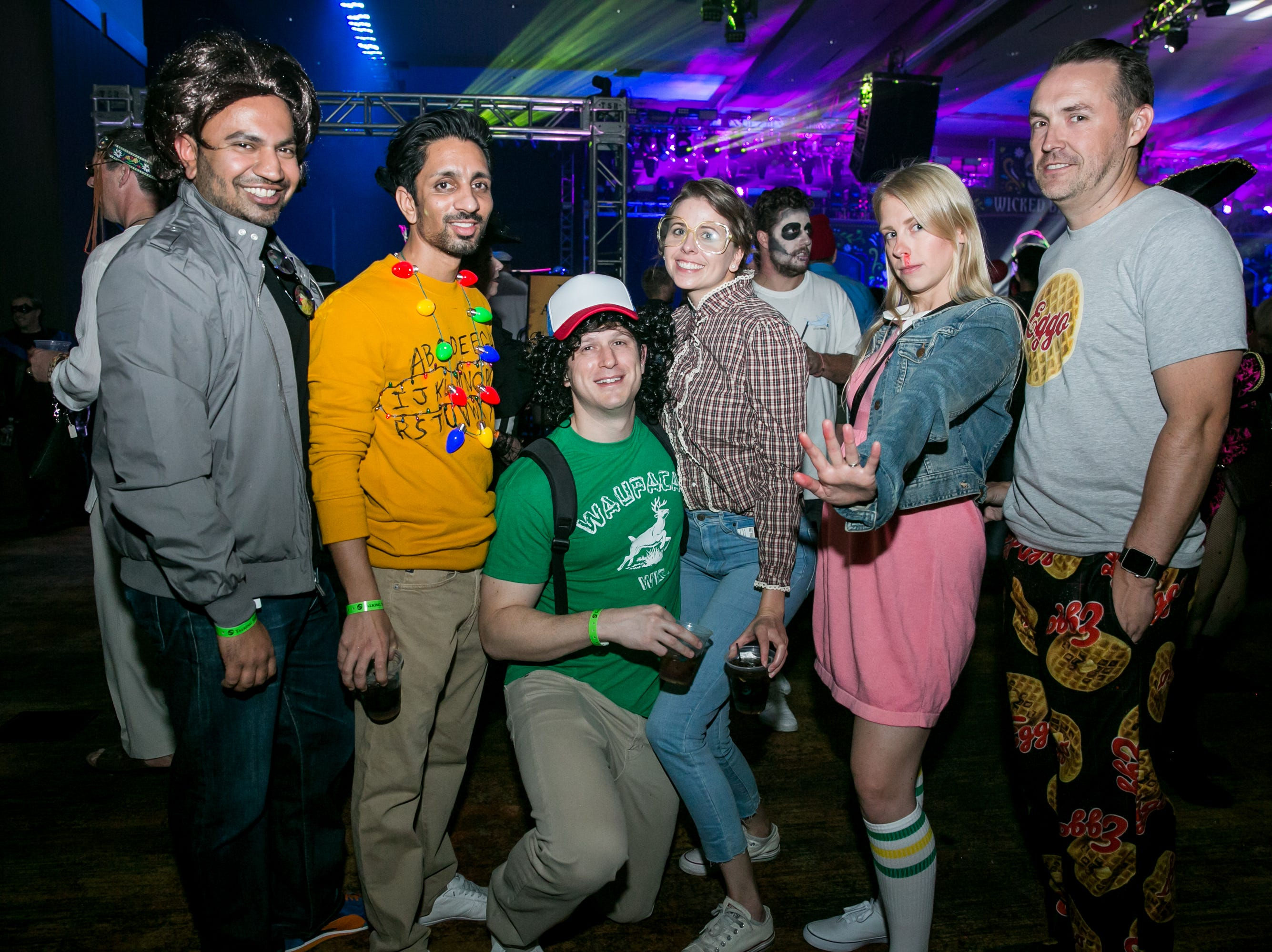 The Stranger Things crew made an appearance during Wicked Ball at Talking Stick Resort on Saturday, October 27, 2018.
