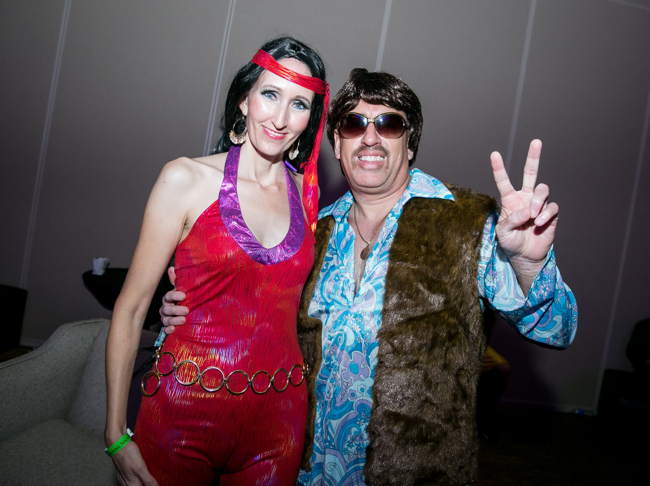 Sonny and Cher looked very groovy during Wicked Ball at Talking Stick Resort on Saturday, October 27, 2018.