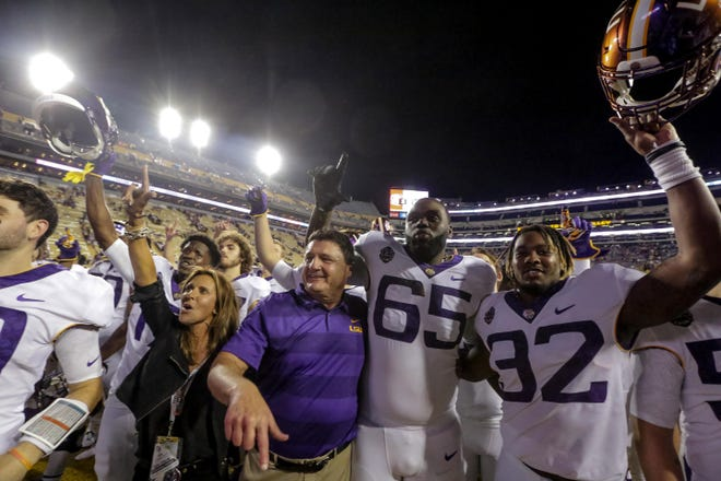 Will LSU be celebrating a victory over Alabama on Saturday night?