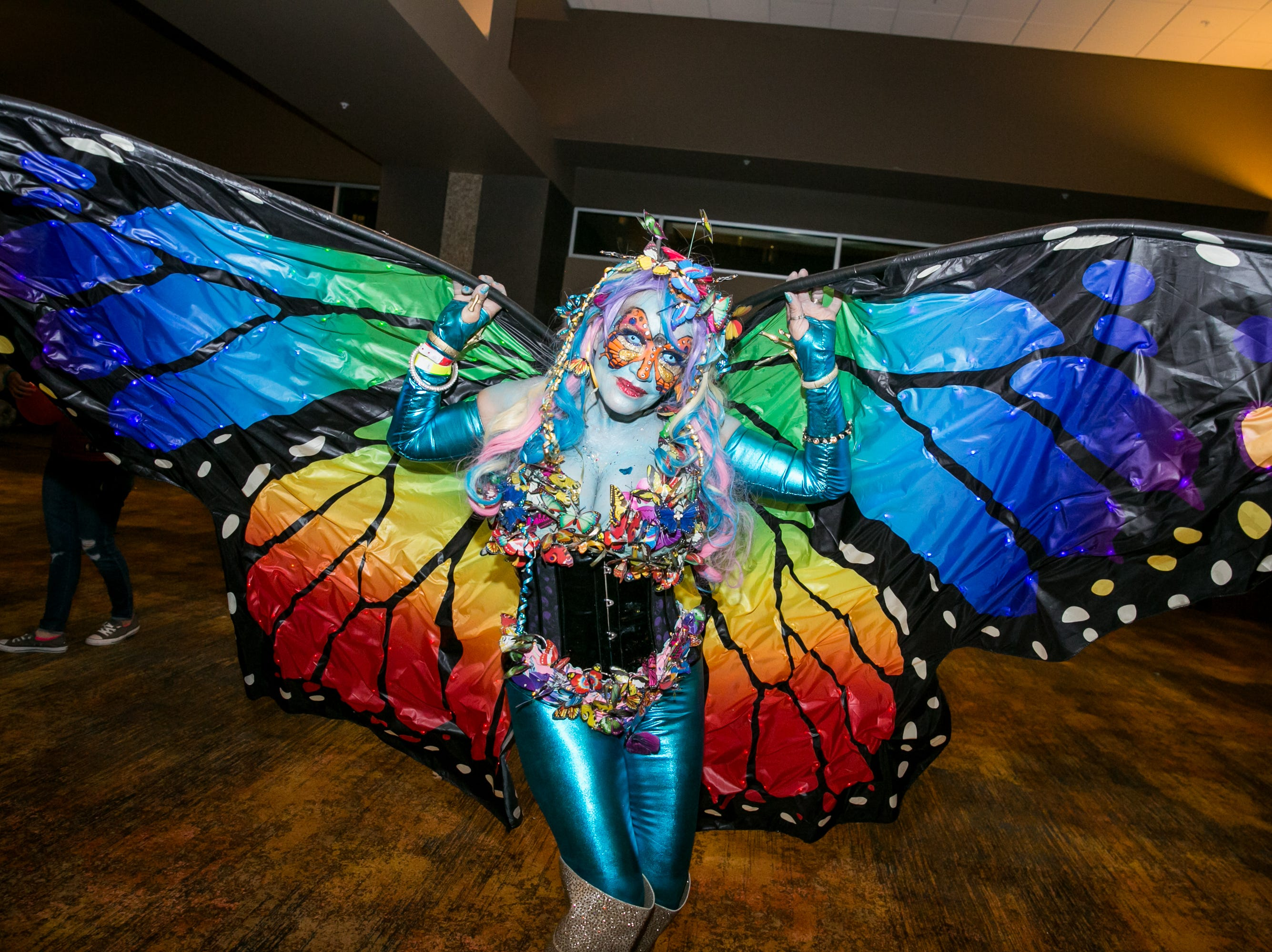 This butterfly costume was superb during Wicked Ball at Talking Stick Resort on Saturday, October 27, 2018.