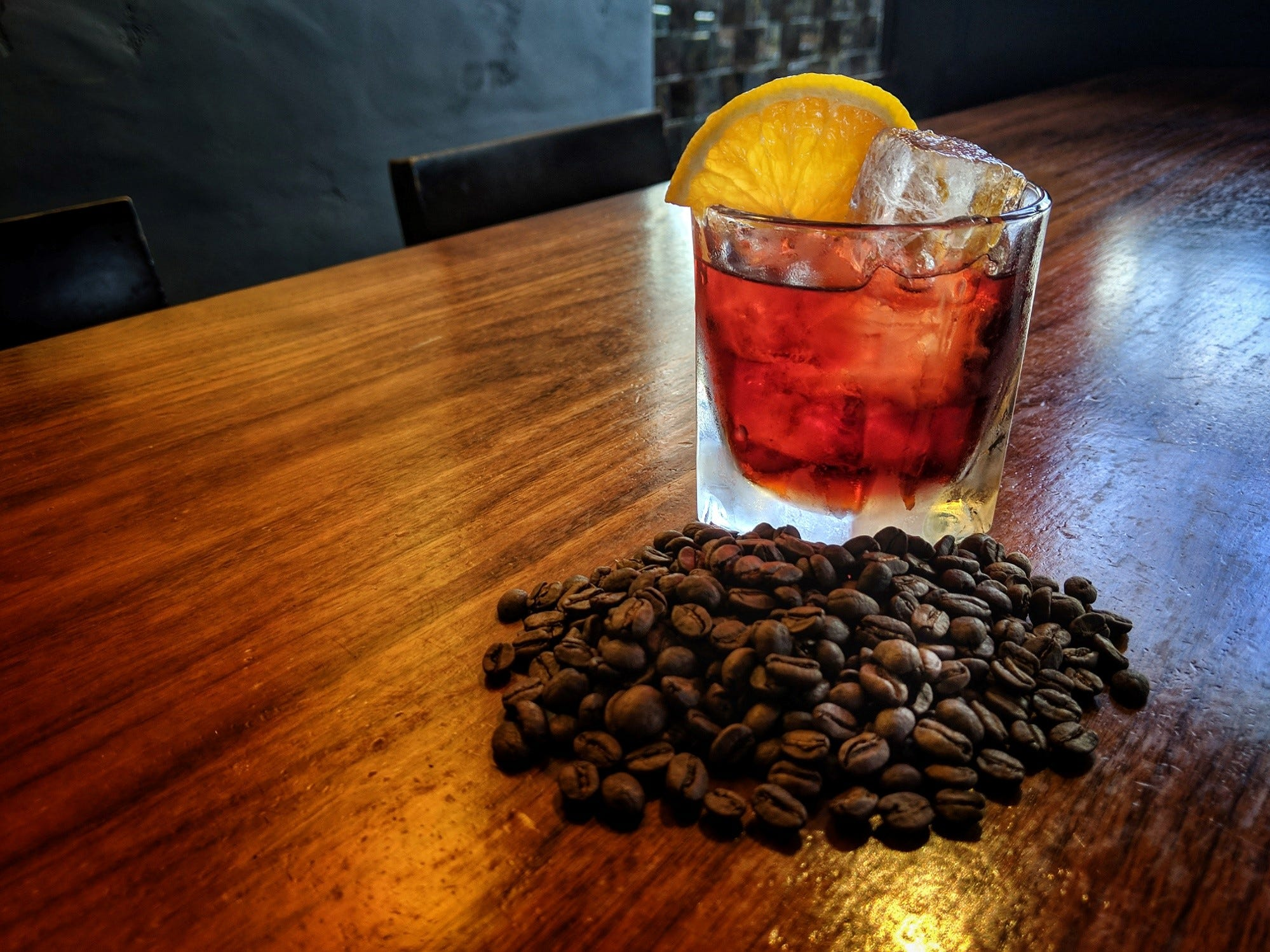 The classic negroni is a specialty at Bitter & Twisted Cocktail Parlour in downtown Phoenix. For fall, the cocktail gets a warm, buzzy twist with an infusion of freshly roasted coffee beans.