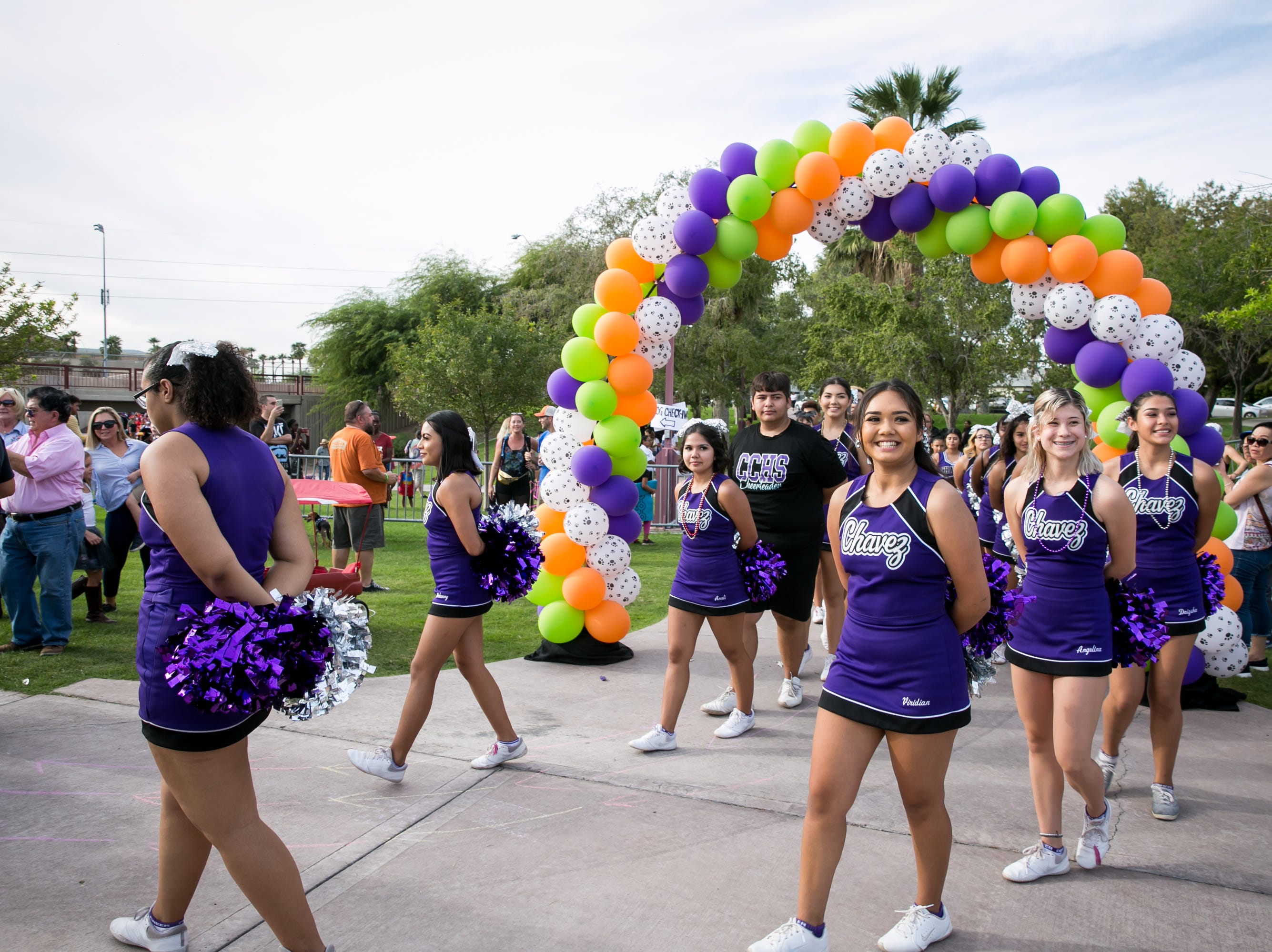 The Cesar Chavez cheer squad performed with percision during Howl-o-Ween at Hance Park on Sunday, October 28, 2018.