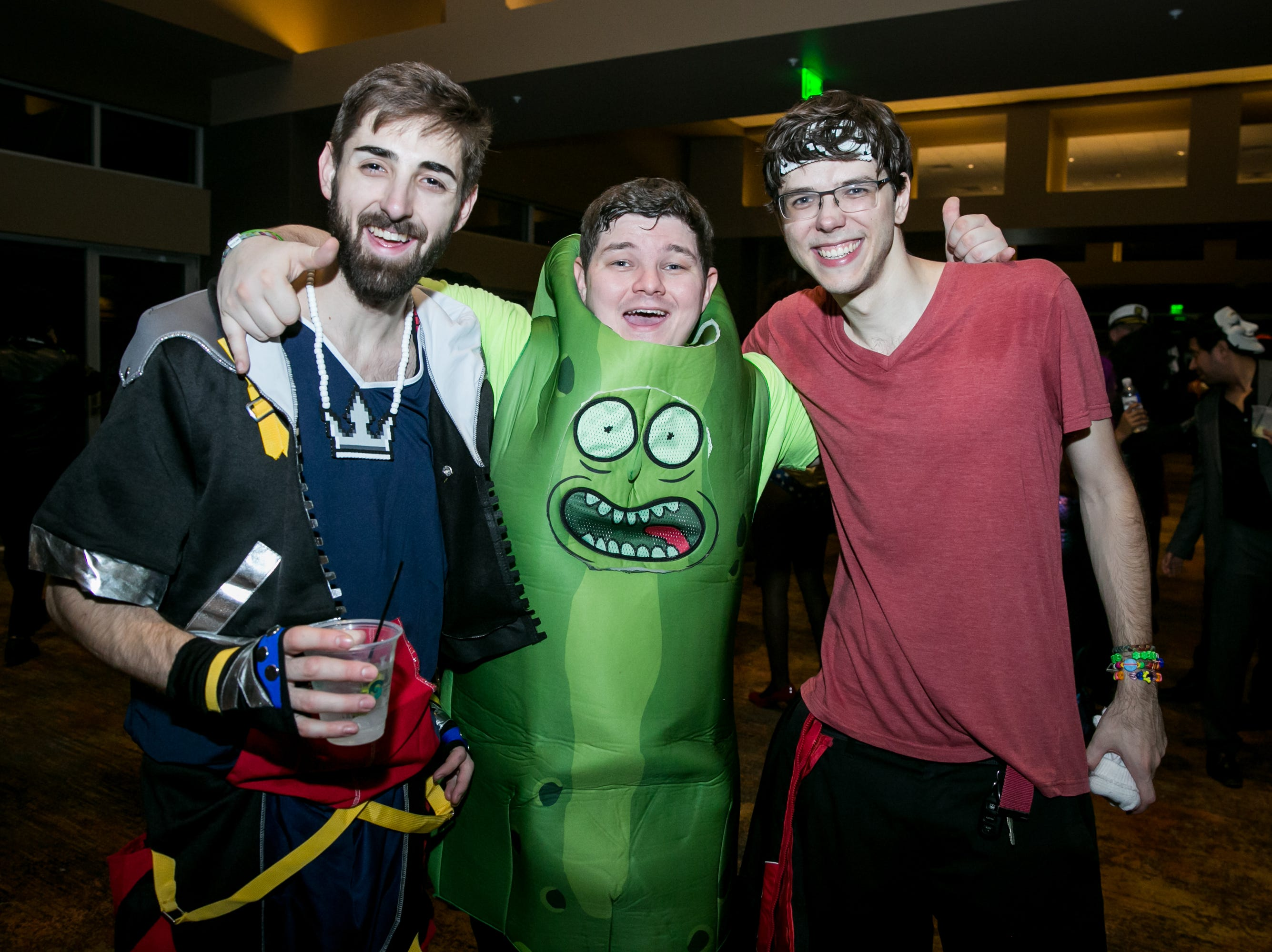 Pickle Rick was his usual troublemaking self during Wicked Ball at Talking Stick Resort on Saturday, October 27, 2018.
