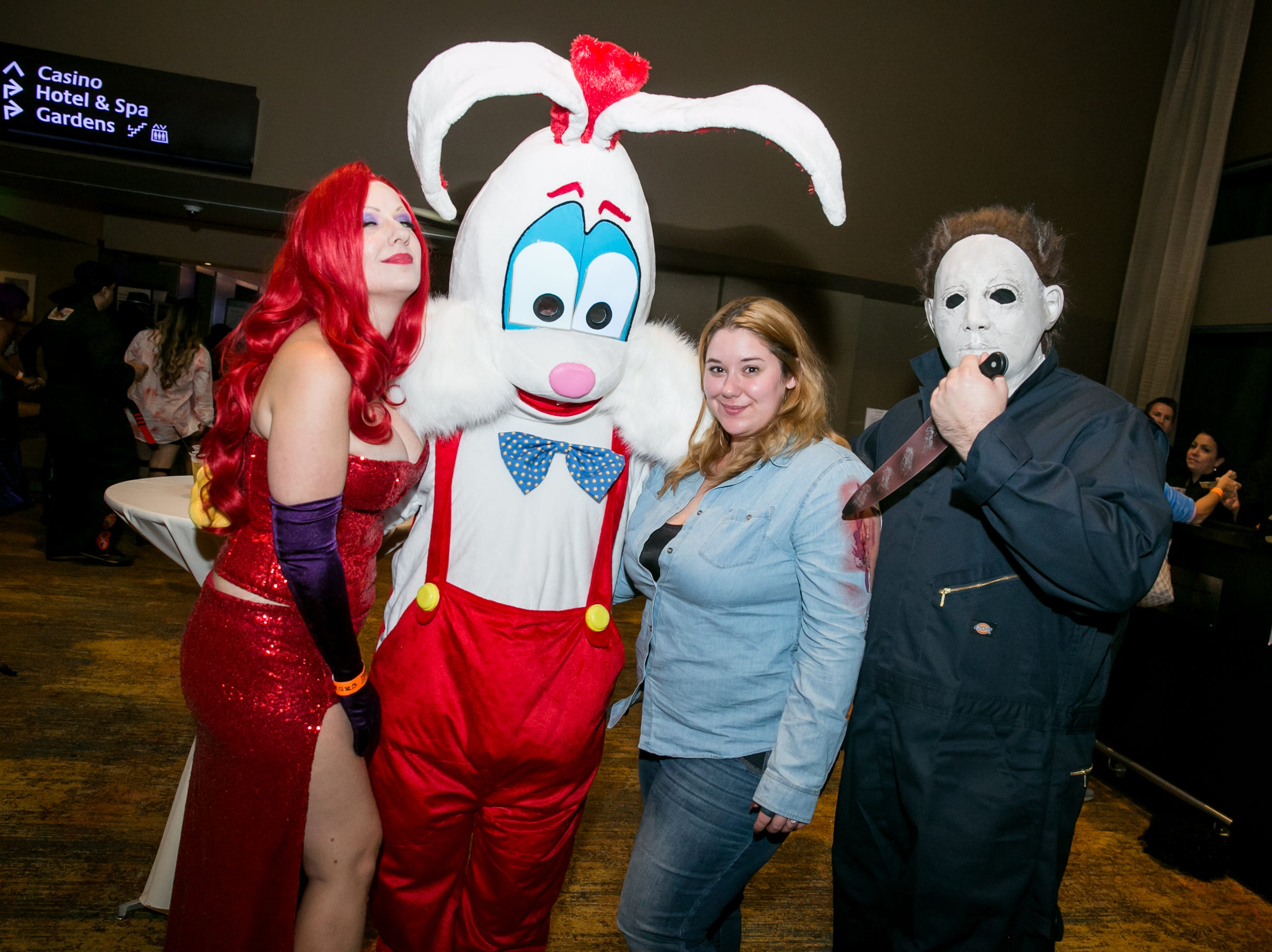 Roger Rabbit and Jason made for interesting rivals during Wicked Ball at Talking Stick Resort on Saturday, October 27, 2018.
