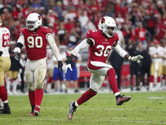 Budda Baker has 102 total tackles with two sacks and two fumble recoveries over two seasons with the Cardinals.