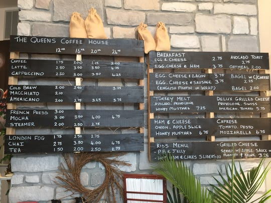 A look at the current offerings at The Queens Coffee House in Palmyra.