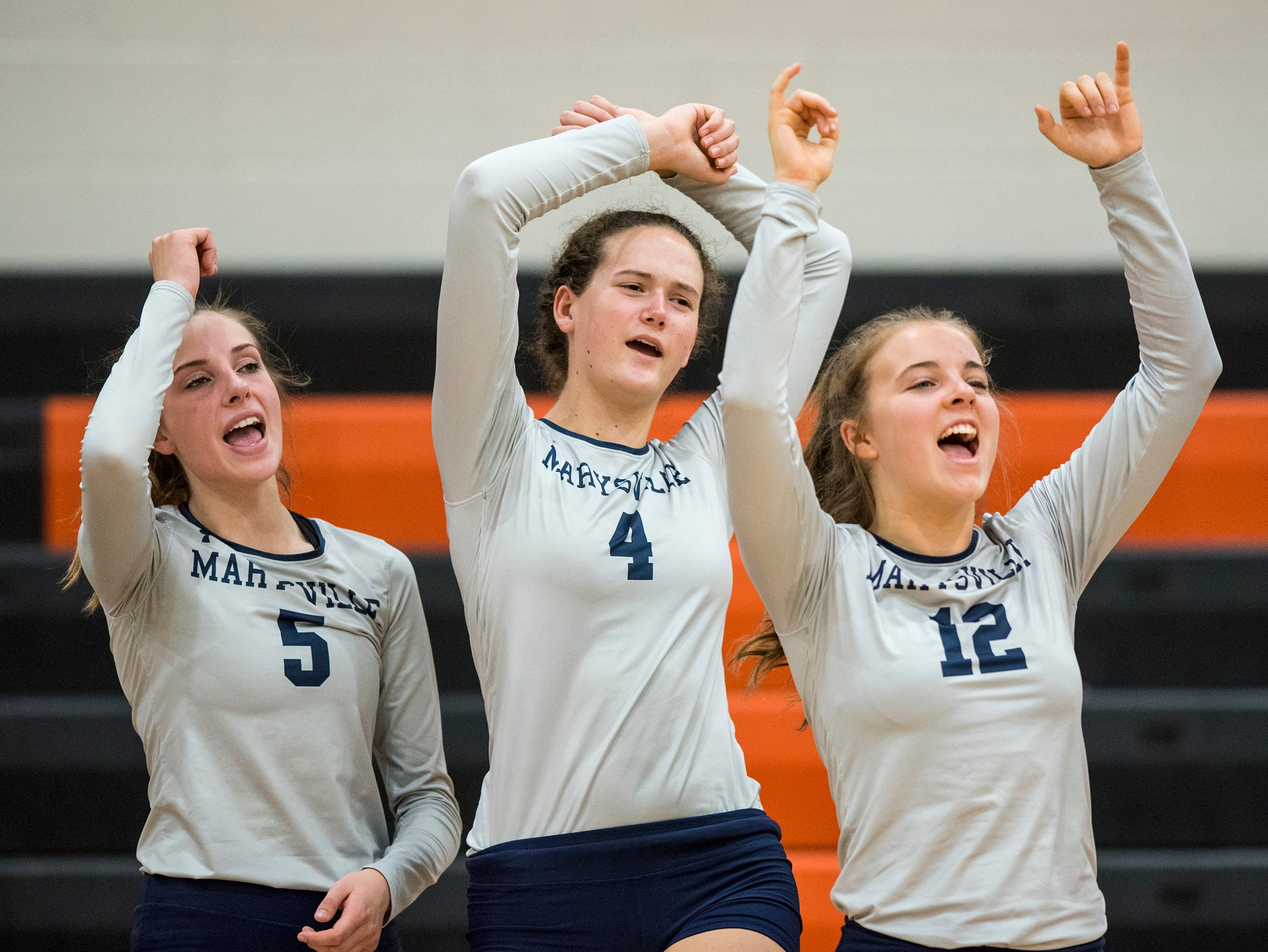 Marysville volleyball upends Marine City in district semifinals
