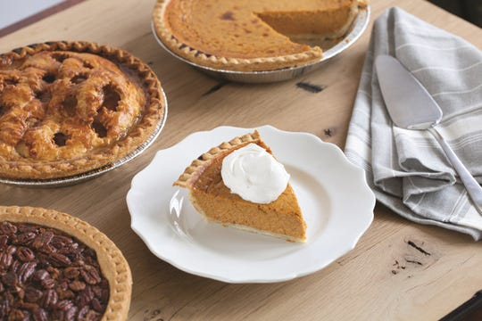 Pumpkin pie is a traditional favorite for Thanksgiving and can be ordered at Adams Fairacre Farms.